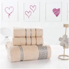 100% cotton towel set/High-quality Soft and comfortable face towel,bath towel brown 34*70cm 2pcs