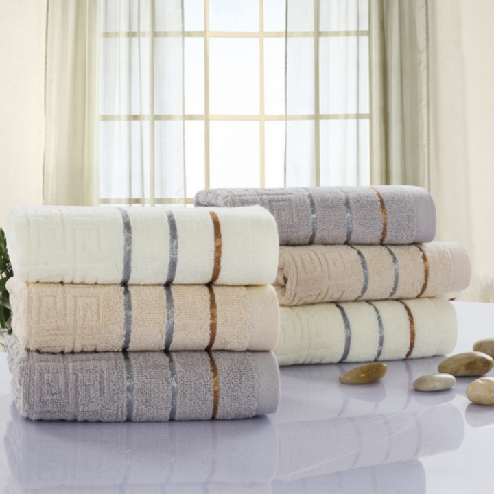 1pcs 100%cotton high quality great wall face towel white 34*74cm