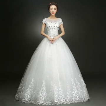 Kilimall: New Wedding Dress Beads Bridal Ball Gown white xxl 1193519