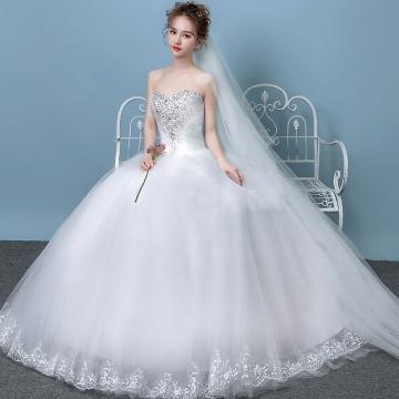 Kilimall: 2018 New Elegant Slim Bra Simple Bridal Gown Princess ...