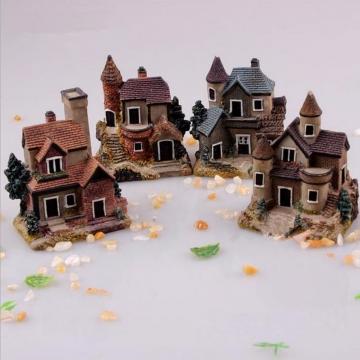 Mini Miniature House Fairy Garden Micro Landscape Home Decoration Resin Decor Muti Normal