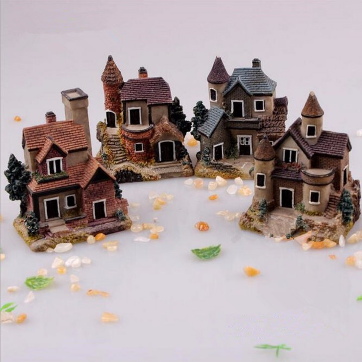 Mini Miniature House Fairy Garden Micro Landscape Home Decoration Resin Decor Muti Normal