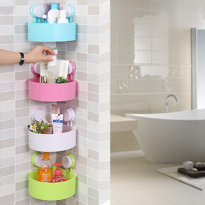 Kilimall: Bathroom Corner Shelf Rack Organizer Shower Storage Cup ...