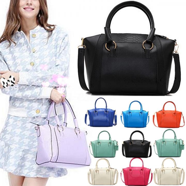 4b5b89ceaf34 Osmond Fashion Women Handbag Shoulder Bag Tote Purse Leather Messenger  Crossbody Bag Blue  3