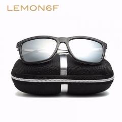 Brand Unisex Retro Aluminum+TR90 Sunglasses Polarized Lens Vintage Eyewear Accessories Sun Glasses black+grey+silver one size