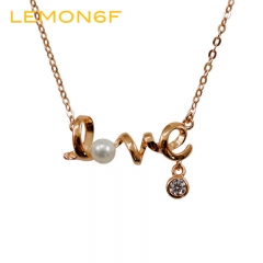Vintage Fashion Jewellery Heart Of Love Chic Sweet Couple Necklace Jewelry Choker Heart gold color one pieces