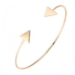 3 Color Punk Arrow Bracelets & Bangles Fashion Gold Color Punk Open Bangle Women Gift Cuff Bracelet silver color 1 piece
