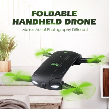 Mini Selfie Drone With Wifi FPV HD Camera Foldable Pocket RC Drones Phone Control Helicopter Black color one piece