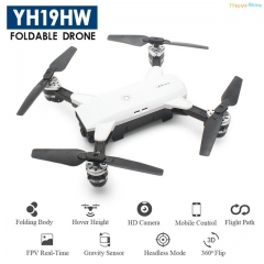 Mini Foldable RC Drone With Wifi FPV HD Camera Altitude Hold Quadcopter Dron White color one piece