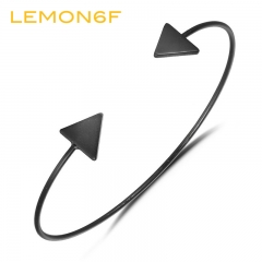 3 Color Punk Arrow Bracelets & Bangles Fashion Gold Color Punk Open Bangle Women Gift Cuff Bracelet black color 1 piece