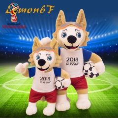 2018 World Cup Russia Official Mascot Wolf Plush Toys Stuffed Football Fans Soccer Souvenir Zabivaka 25cm