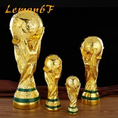 2018 Russia World Cup Trophy Souvenir Gift World Cup Trophy For Football Competition Reward Resin as the picture shows 13cm