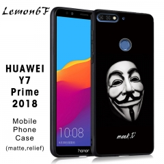 Huawei Y7 Prime (2018) Mobile Phone Case Painted phone case Relief matte Mobile Phone Case V for Vendetta one piece