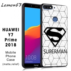 Huawei Y7 Prime (2018) Mobile Phone Case Painted phone case Relief matte Mobile Phone Case Superman one piece