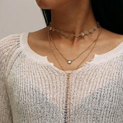 necklace gold color 1 piece