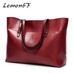 Luxury Women Bag Handbags Women Messenger Bags Casual tote Large capacity Women Leather Handbags Wine red color high capacity