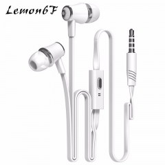 3.5mm In-ear Earphones Stereo Headphones headsets Super stereo earbuds for mobile phone white color