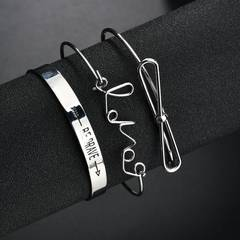 Fashion Bracelet 3 pieces /set silver color 3 pieces /set