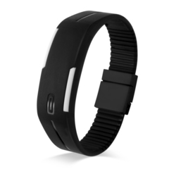 Silicone Led Sport Watches Men Women Children Electronic LED Digital Watch Man Ladies Running  Watch Black color one piece