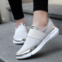Women Casual Shoes Female Platform Shoes  Women Shoes Silver Gold gray 38