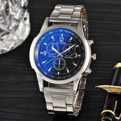 Brand Fashion Classic Quartz Wristwatch Delicate Luxury Steel Strap watches men watches black one size
