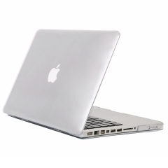 """for 13"""" White Macbook Case, Hard Rubberized Protective Cover 13.3 inch crystal-transparent 13 White Macbook (Model:A1342 on the bottom of laptop)"""