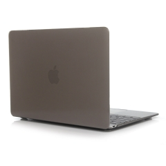 """for 12"""" Macbook Case, Hard Rubberized Protective Cover 12 inch crystal-gray 12 Macbook (Model:A1534 on the bottom of laptop)"""