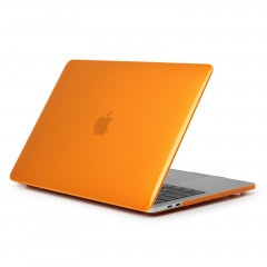 """15"""" New Pro 2016 Case, Hard Rubberized Protective Cover for 15.4 inch Macbook crystal-orange 15 NEW Pro 2016 (Model:A1707 on the bottom of laptop)"""