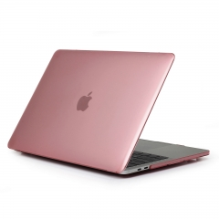"13"" New Pro 2016 Case, Hard Rubberized Protective Cover for 13.3 inch Macbook crystal-pink 13 NEW Pro 2016 (Model:A1706 or A1708 on the bottom of laptop)"