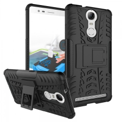 for Lenovo K5 Note Case, Hard PC+Soft TPU Cover for 5.5 inch Lenovo A7020 Black Shockproof Tough Dual Layer
