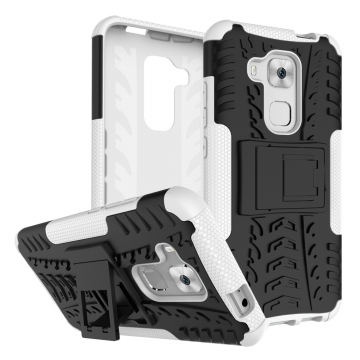 for Huawei Nava Plus Case, Hard PC+Soft TPU Cover for 5.5 inch Huawei G9 Plus White Shockproof Tough Dual Layer
