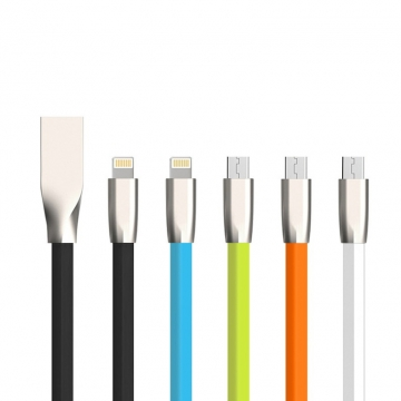 Android Smartphone Charging Cable USB Sync Transfer Data Cable Line for Infinix HUAWEI Cubot Samsung orange