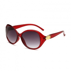 Oulaiou Women's Fashion Accessories Glasses Anti-UV Trendy Sunglasses O 0153 red wine one size