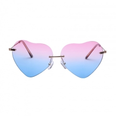 Oulaiou Women's Fashion Accessories Heart Glasses Anti-UV Trendy Sunglasses O203 pink one size