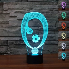 Colorful Changing Night Light Touch Switch 3D LED Lamp (Creative 01) multi-color not specied 0.5w