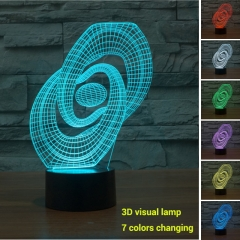 Colorful Changing Night Light Touch Switch 3D LED Lamp (Creative 03) multi-color not specied 0.5w