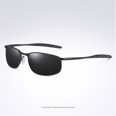 Aoron Brand Men Polarized Sunglasses Night Vision Eyewear Sport Goggle black+black one size