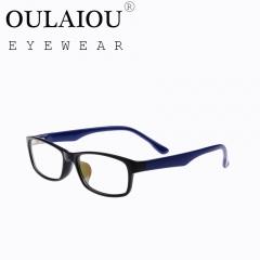 Oulaiou Fashion Accessories Anti-fatigue Popular Eyewear Frames Reading Glasses OJ603 Black+Blue