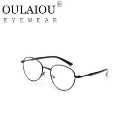 Oulaiou Fashion Accessories Anti-fatigue Popular Eyewear Frames Reading Glasses OJ9739 black