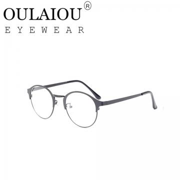 Oulaiou Fashion Accessories Anti-fatigue Popular Round Eyewear Frames Reading Glasses OJ9736 black
