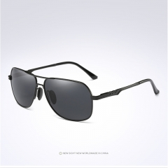 Aoron Brand Men Polarized Sunglasses UV400 Eyewear HD Driving Goggle L-197 black+black one size