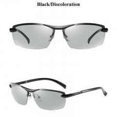AORON Photochromic Sunglasses Men Polarized Discoloration Anti Glare HD Goggles black one size