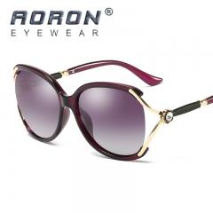 AORON Designer Women Polarized Sunglasses Diamond Frame Goggle HD Glasses purple one size