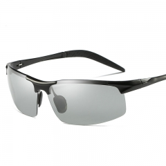 AORON Photochromic Sunglasses Men Polarized Discoloration Anti Glare Sport Goggles black one size