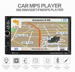 ouchuangbo car MP5 player with GPS front USB AUX mirorr link free Kenya map