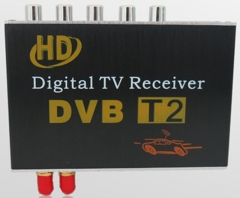 Ouchuangbo 2  antenna High Speed HD DVB-T2 Mobile car Digital TV Turner Receiver box for Kenya