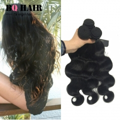 BQ HAIR Top 7A 100% Unprocessed Virgin Human Hair 3 Bundles Body Wave Style Human Hair (8'~32') nature black 12 12 12