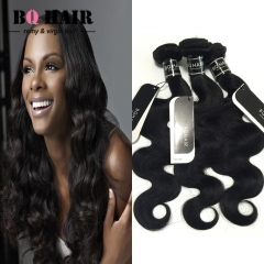"BQ HAIR 8A 1/3/4 Bundles100% Brazilian Virgin Hair Body Wave Hair Weaves 100g/Bundle (10""~28"") nature black 10 10 10"