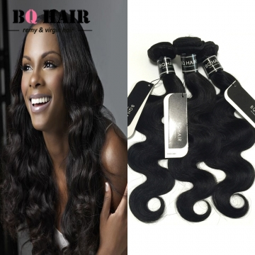 "BQ HAIR 8A 1/3/4 Bundles100% Brazilian Virgin Hair Body Wave Hair Weaves 100g/Bundle (10""~28"") nature black 20 22 24 26"