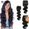 "BQ HAIR Brazilian Swiss One Pcs Lace Closure Body Wave Human Hair (10""~20"") nature black 10 inch lace closure"